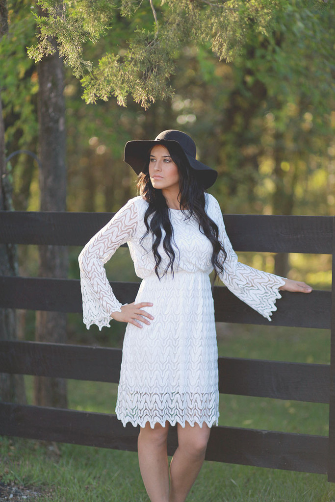 Romantic Me White Lace Dress