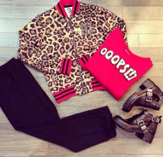 jacket life is imperfect imperfec spotted leopard print