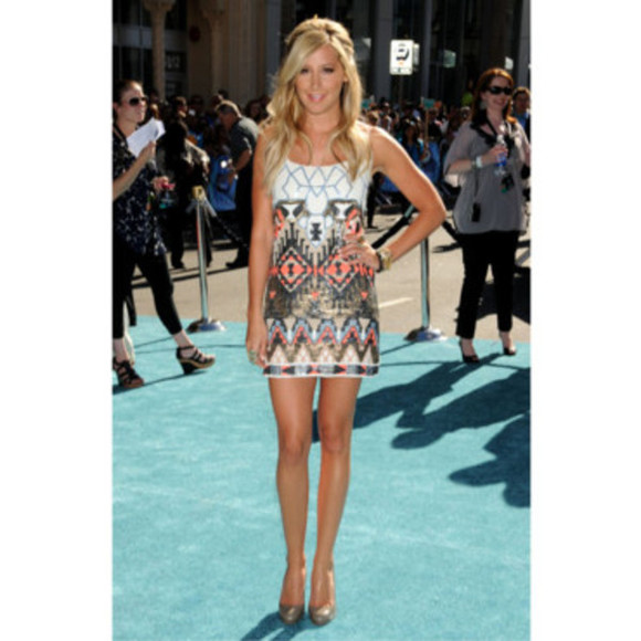 ashley tisdale dress girl aztec aztec dress clothes