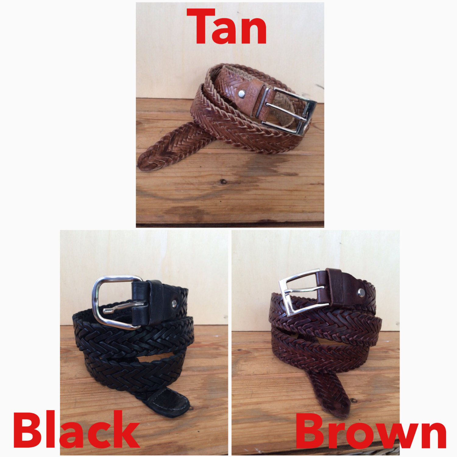 BRAIDED LEATHER BELT, Pleated leather belt, Woven belt, Braided Belt, Trousers Belt, plaited belt