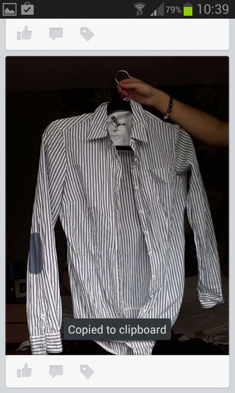 shirt blue and white striped