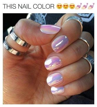 nail polish white metallic iridescent pearl