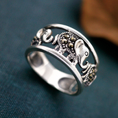 jewels,925 sterling silver,elephant ring