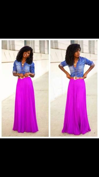 skirt maxi skirt pink