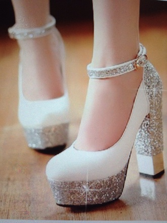 shoes heels sparkly glitter prom silver pink nude platform shoes