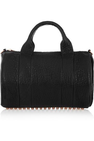 Alexander Wang|The Rocco textured-leather bag|NET-A-PORTER.COM