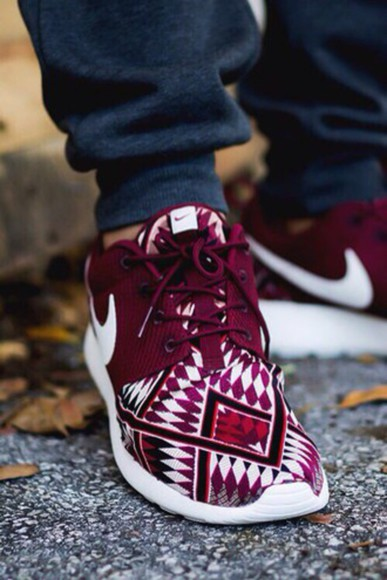aztec burgundy mens shoes nike