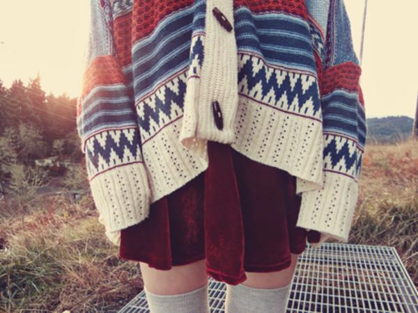 sweater winter sweater tribal sweater skirt pants