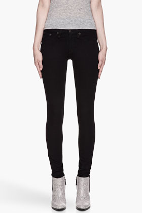 RAG & BONE Dark Navy Mock-pocket The Legging Jeans for women | SSENSE