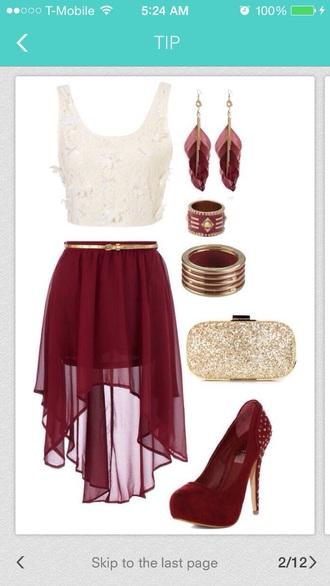 skirt trusper red skirt red