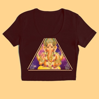 shirt ganesh native american black crop tops galaxy print tribal pattern black crop top t-shirt same as the pic please