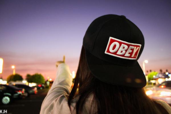 hat cap obey