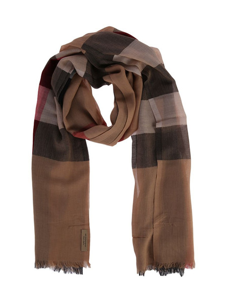 Burberry Multicolour Cotton Scarf in brown