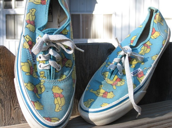 Winnie the Pooh Vans shoes by RecycledWears on Etsy