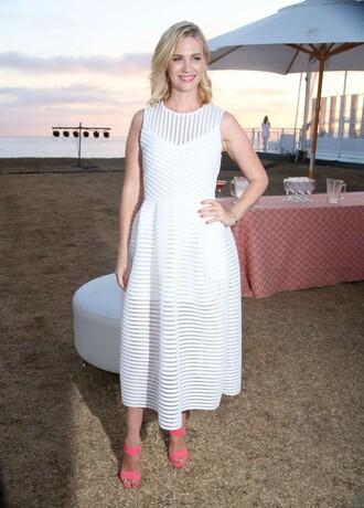 dress white dress midi dress january jones sandals summer dress