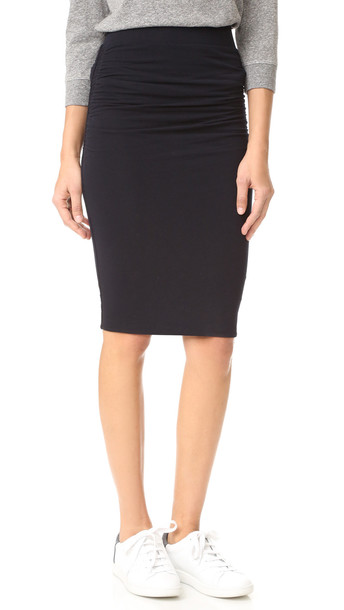 334662a88 James Perse Double Shirred Skirt - French Navy - Wheretoget