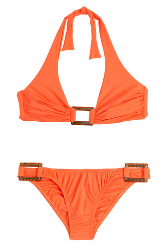 bikini triangle bikini triangle paris orange swimwear