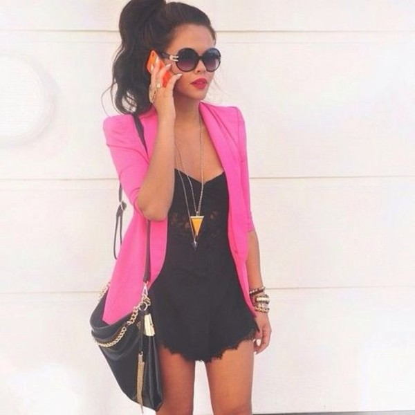 dress clothes jacket bag romper