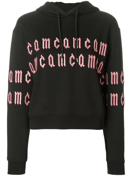 hoodie embroidered women cotton black sweater