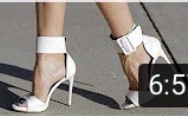 shoes heels white thicker strap stilleto heel
