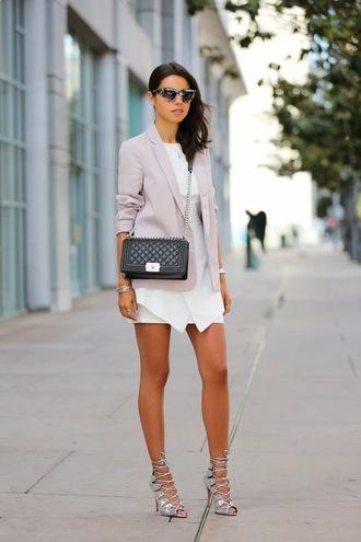 viva luxury jacket shoes bag t-shirt sunglasses dress jewels nail polish silver sandals silver high heels sandals