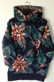 sweater,sweatshirt,floral,flowers,amazing,cute,nature,hipster,indie,plants,hoodie