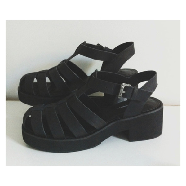 shoes grunge sandals black shoes summer shoes black heels jellies mid heel sandals black sandals matte tumblr wedge sandals wedges leather black wedges
