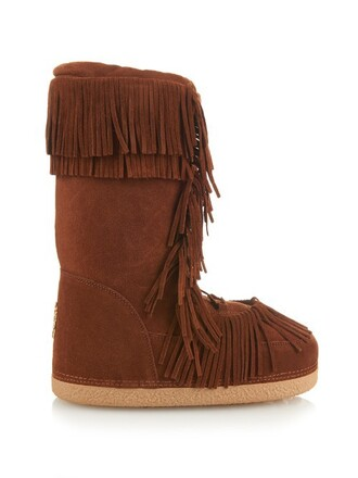 boho boots suede tan shoes