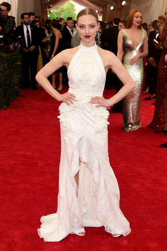 dress gown white dress amanda seyfried red carpet met gala wedding dress metgala2015