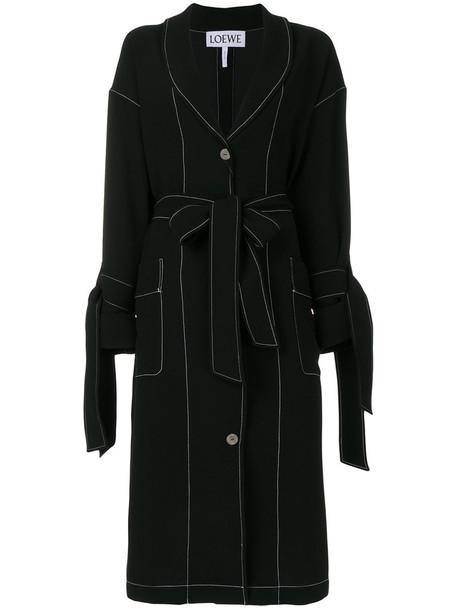 LOEWE coat duster coat women black