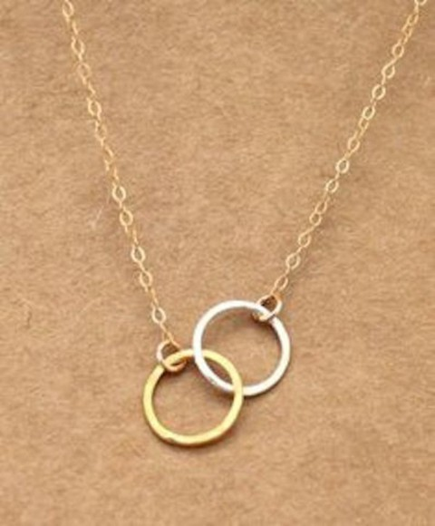 jewels silver necklace gold necklace eternity necklace gold jewelry cute