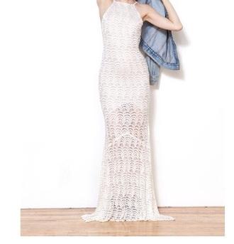 dress maxi dress long dress clothes dress fashion style white dress