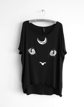 t-shirt,meow,shirt,full moon,moon,cute,cats,puss,sailor moon
