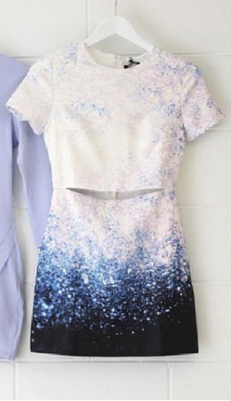 stars white dress blue dress starry