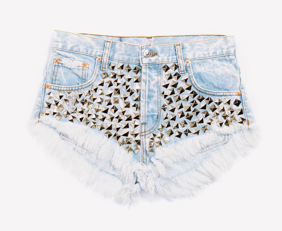 Wunderlust Stoner Studded Babe Shorts