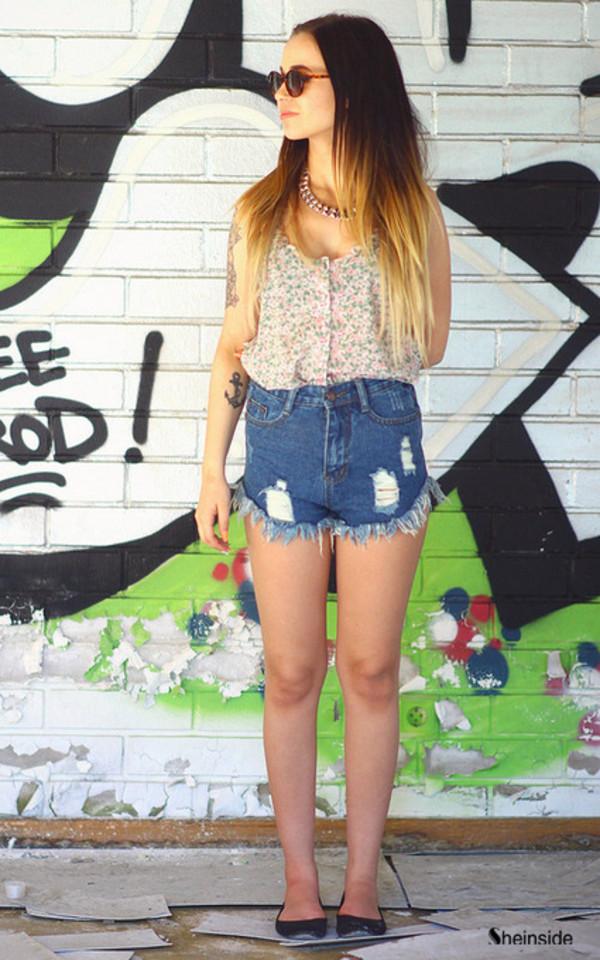 denim shorts jeans blue