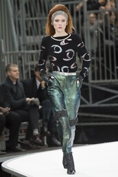 pants,top,chanel,Paris Fashion Week 2017,fashion week 2017,runway