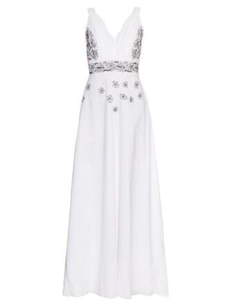 dress maxi dress maxi embroidered cotton white