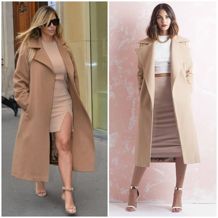 Ladies Camel Coats In Wool | Down Coat