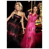dress,cool,fuschia minidress,turquoise,prom dress