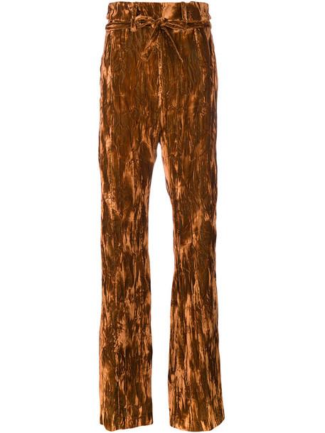 high women cotton yellow orange pants