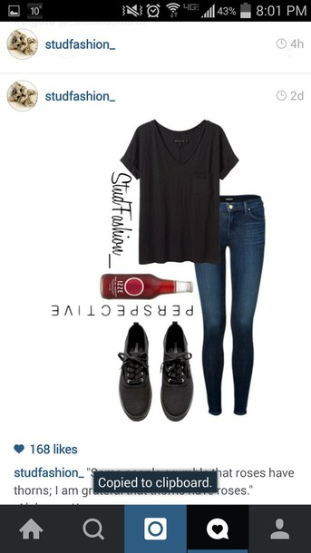 blouse black t-shirt