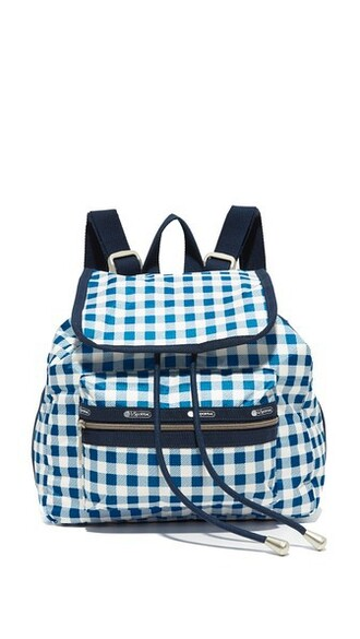 mini backpack gingham bag