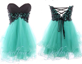 dress prom black mint prom dress