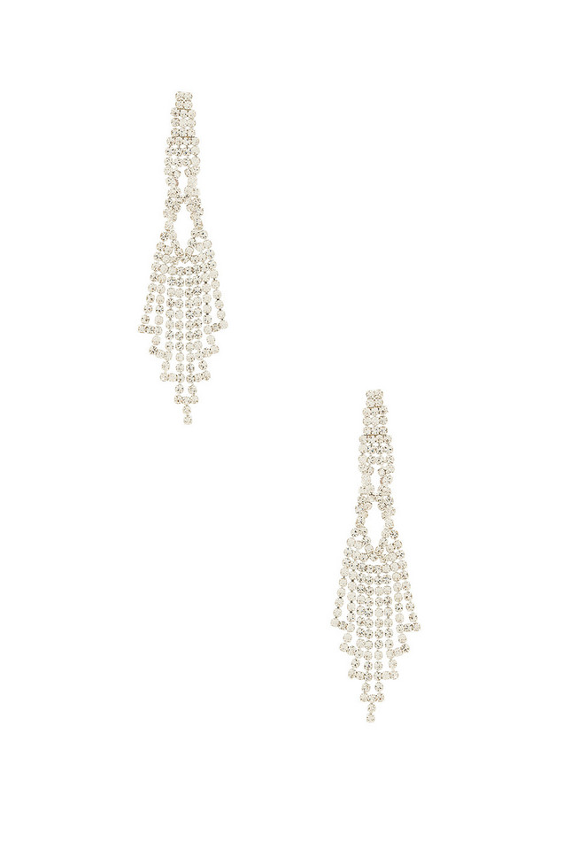8 Other Reasons Chandelier Earring in metallic / silver