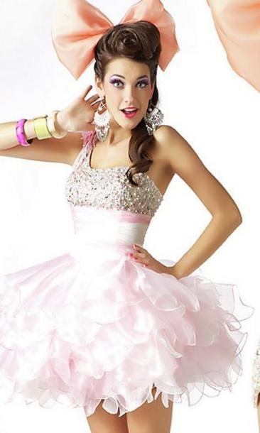 dress ribbon white pink peach cream sequins sequin dress formal formal dress sexy sexy dress ruffle ruffle dress tulle skirt tulle dress