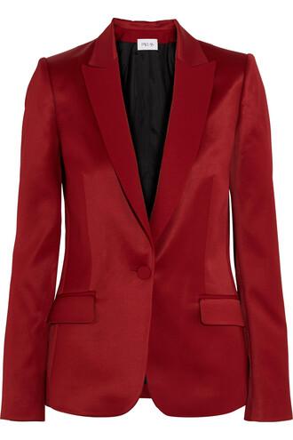 blazer satin jacket