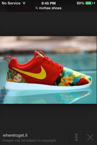 shoes nike roshe run found at footlocker  red floral