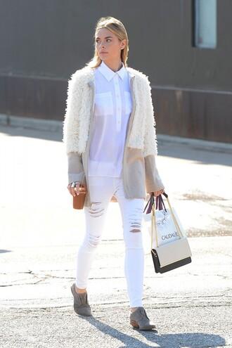 cardigan jacket jaime king jeans white