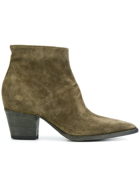 OFFICINE CREATIVE women boots leather suede green shoes